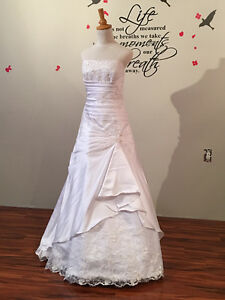 WEDDING Gown SALE - White, Available in 2 Sizes - Never Worn