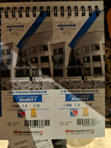 2 Rangers tickets for Sunday December 9th