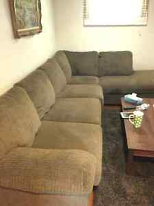 Chenille sectional