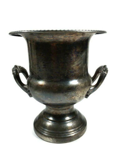 Antique Vtg Leonard Silverplate Holiday Champagne Wine Ice Bucket Trophy Planter