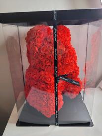 Red Rose Flower Bear box -Brand New