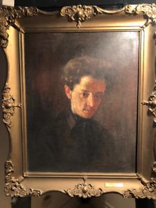 Huile sur toile non signée attribuée à Ernest Aubin