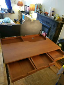 Dining table/ desk with open compartment