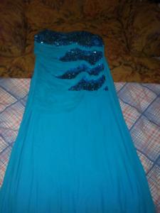 Blue long sparkly dress very pretty