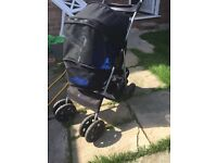 Dog pushchair / stroller ideal for old or poorly dogs