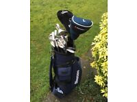 Meriden full set of golf clubs with bag.