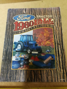 1980 FORD TRACTOR FALL PARTS CATALOG