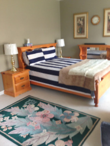 Bed Room Set For Sale, Frame/Head Board/Night Table/Cheaster.