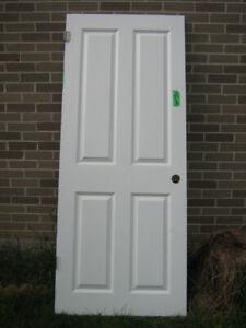 Interior door 6 panel insulated 31 3/4 X 77 1/4