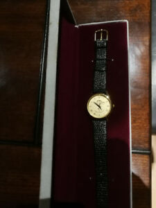 23K Gold Plated Chiropractic Watch with Genuine Leather Band