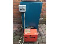 Warmflow 50/70 btu oil boiler and riello oil burner