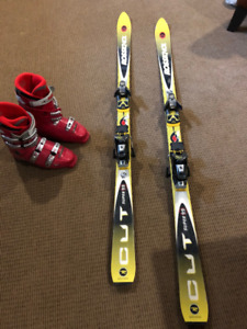 Rossignol mens' skis with Tehnica boots