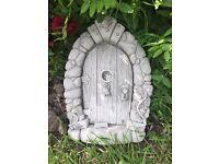 Stone garden fairy door, fantastic detail. New