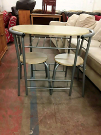 Space saving dining table and chairs £30
