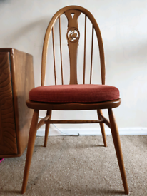 4x Ercol Swan Blond Chairs with cushions