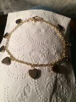 Heart gold ankle bracelet