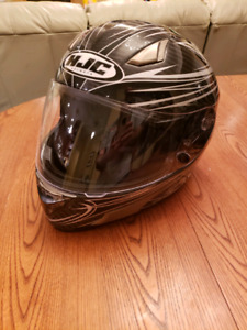 HJC Carbon Fibre Motorcycle helmet: Size M, and extras