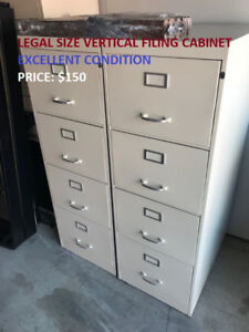 Legal size vertical filing cabinet, Excellent Condition!