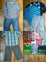 Boys Outfits and t-shirts bundle 35$