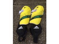 Adidas Junior Boys Shin Pads with Ankle Protectors. Size M.