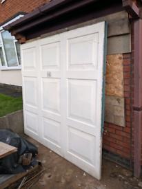 White Metal Garage Door