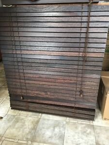 Beautiful brown wooden blinds-selling 2 at $50 each