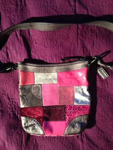 Coach Holiday Patchwork  Convertible Purse