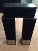 Speakers, sub woofer, Yamaha receiver