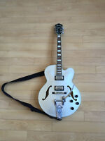 Ibanez AFS75T Artcore, silver, upgraded