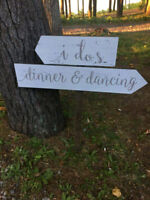 Wedding Ceremony & Reception Directional Sign