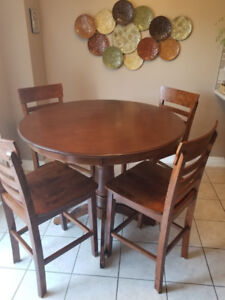 BRAND NEW: Round counter height dining table + 4 chairs -Wayfair