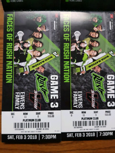 Saskatchewan Rush Tickets for February 3rd