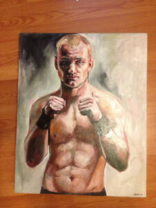 Acrylic UFC Fighter Painting faire une offre, make an offer West Island Greater Montréal image 1