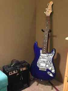 Aria STG Series Electric Guitar & Amp