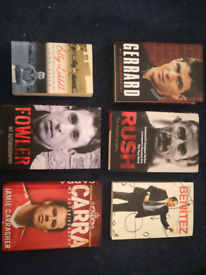 Job lot - Liverpool FC books - autobiographies