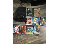 PS2 PlayStation with games