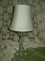CHOICE on Vintage MIDCENTURY MODERN Pressed Cut Glass LAMPS