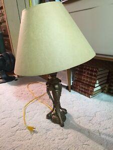 Modern rustic lamp
