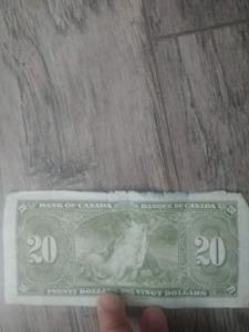 Old $20 bill 1937