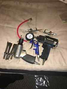 Mastercraft air impact gun, air hammer blow gun and tire gauge