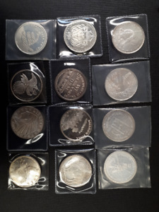 Collection of 1 oz Silver Rounds