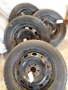 Yokohama snow tires and steel rims