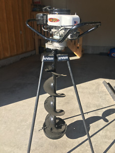 "10"" gas Jiffy ice auger and more"