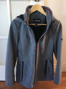 Women's Grey Softshell Jacket -Size Medium