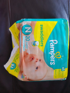 Pampers Swaddlers  (size newborn)