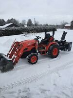 KIOTI 2510 compact tractor/snowblower/lawnmower