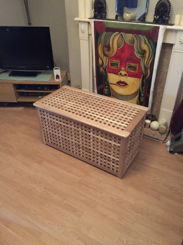 Large wooden storage box .Ikea HOL. : in Hazel Grove, Manchester : Gumtree