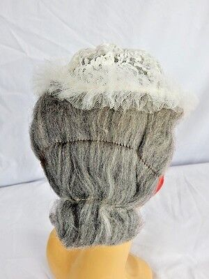 Vintage Masquerade Old Maid Lady Granny Halloween Hair Wig Grandmother Theater - Old Lady Halloween Wig