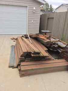 Fence boards and posts