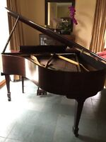 Brambach antique baby grand piano (serial number 55516)